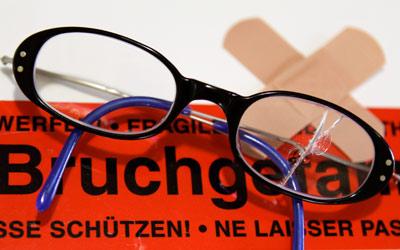 kaputte brille bruchgefahr